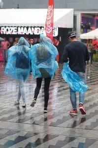 Regen op de roze maandag